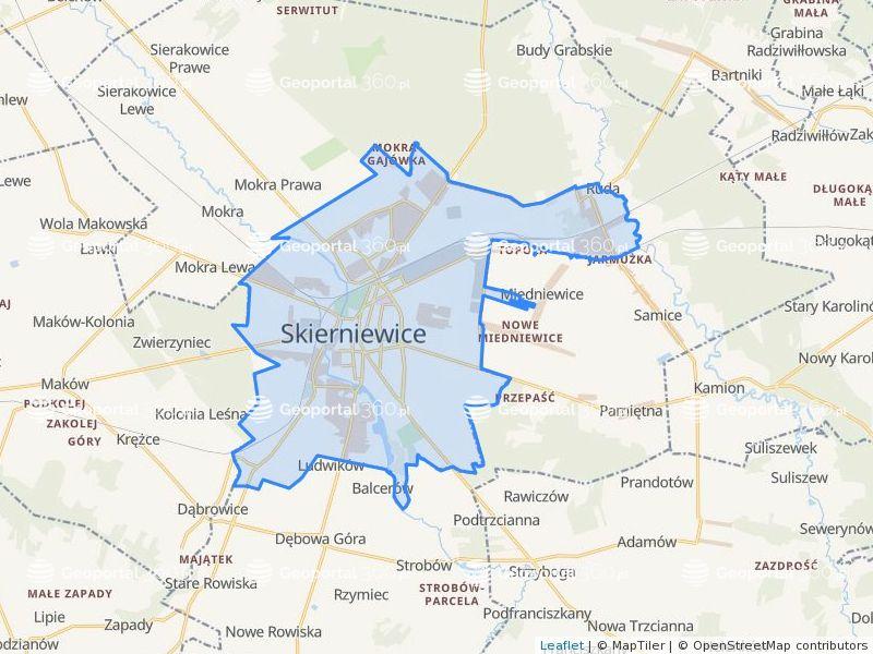 Dzialki Powiat Skierniewice Mapa Geoportal 360 Pl