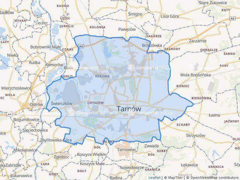 Dzialki Powiat Tarnow Mapa Geoportal 360 Pl